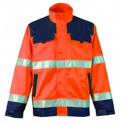 VESTE HV ORANGE POLY COTON...