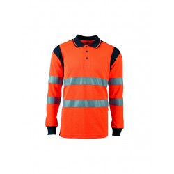 POLO HV ORANGE MANCHE LONG...