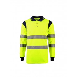 POLO HV JAUNE MANCHE LONG S...