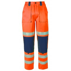 PANTALON HV ORANGE/MARINE S...