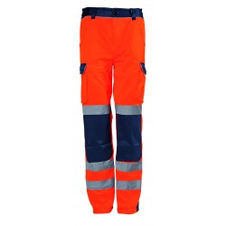 PANTALON HV ORANGE/MARINE,...
