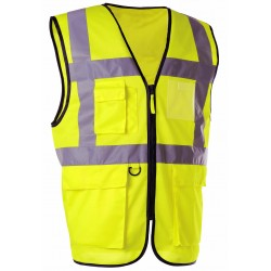 GILET HV JAUNE MULTIPOCHES...