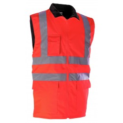 GILET HV ORANGE DOUBLE...
